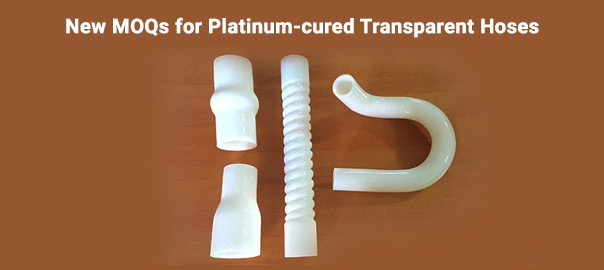 New MOQs for Platinum-cured Transparent Hoses